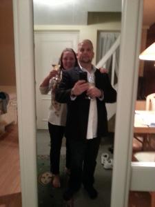 Sådan ser et ny forelsket par ud, på vej på restaurant